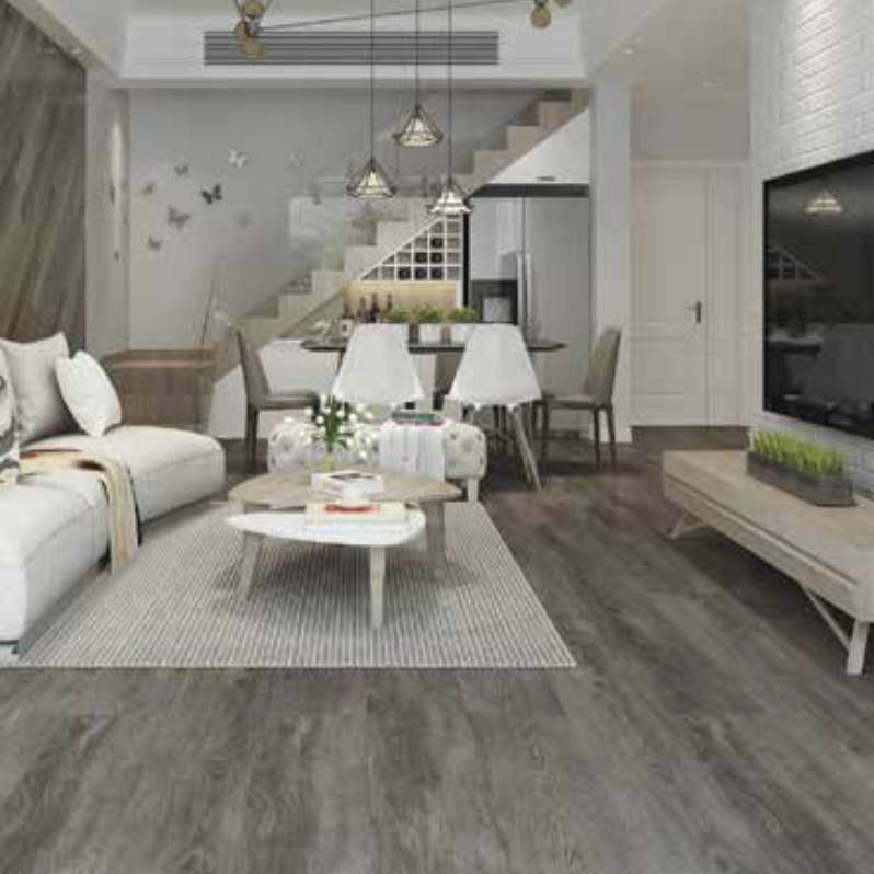 The Deluxe Edition laminate flooring readily matches most modern interior styles featuring a straight edged locking system which provides a seamless effect across the entire floor.